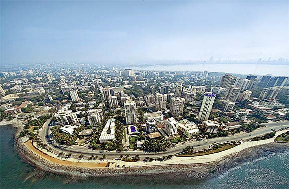 Cover of 'Open Mumbai' by PK Das & Associates showing an overview of megapolis Mumbai