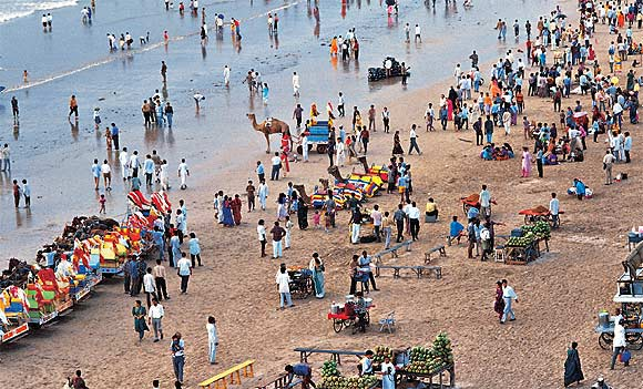 The Juhu beach as it is today