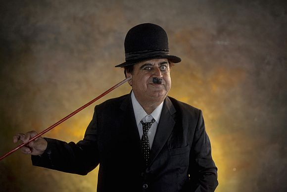 India's Charlie Chaplin hits the streets