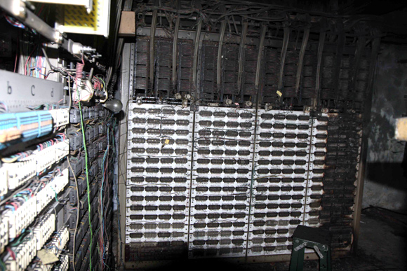 The burnt signal panel at Kurla station