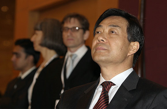 Bo Xilai, then China's commerce minister, at the Asia Society convention in Mumbai, March 2006