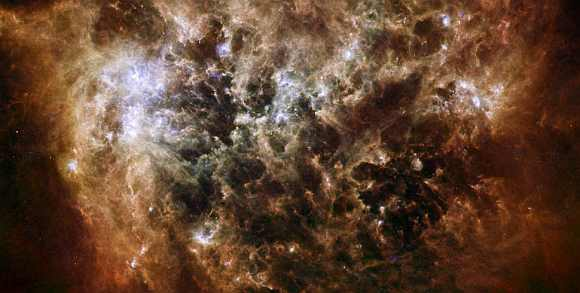 Dusty space cloud