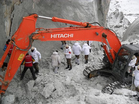 Rescue operation at Gairi Sector of Siachen