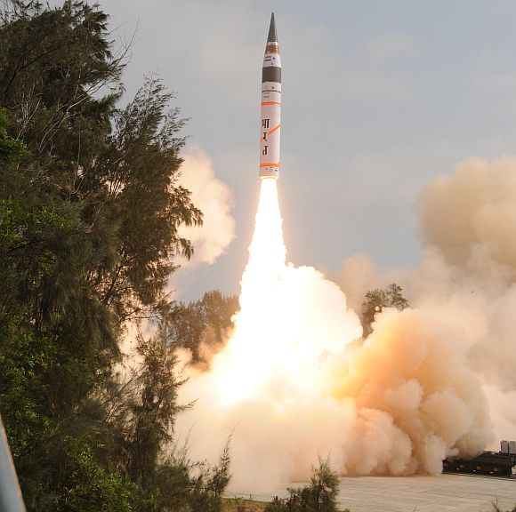 The launch of Agni V