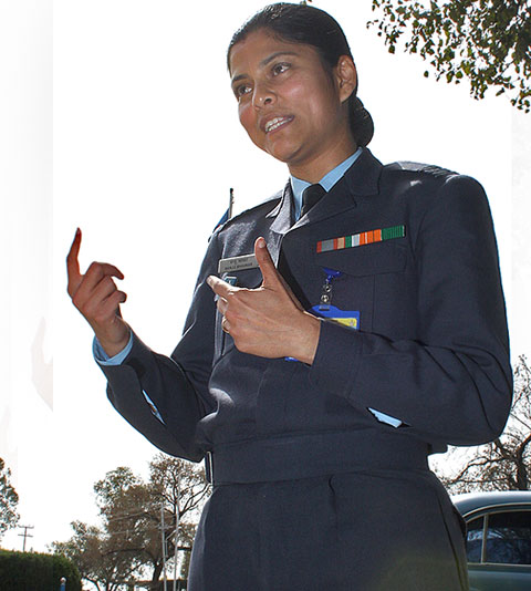 Squadron Leader Manju Bhaskar has spent 12 years in the IAF as an officer