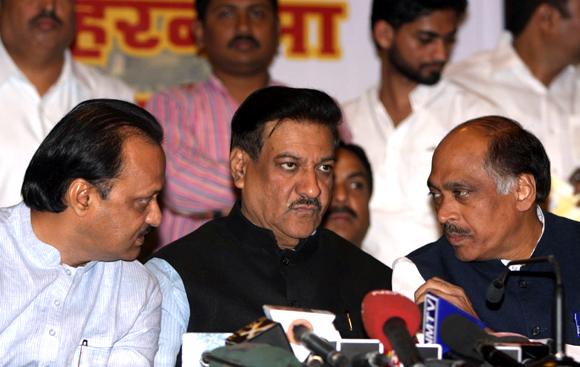 Maharashtra's worried Chief Minister Prithviraj Chauhan