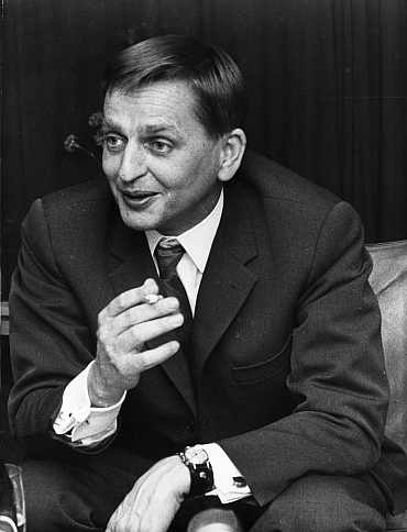 Former Swedish prime minister Olof Palme