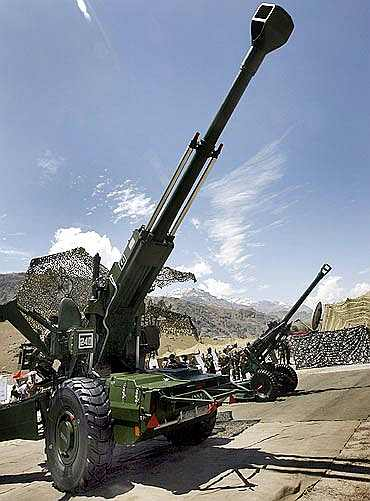 The 155 mm Bofors artillery gun saw action in the Kargil war