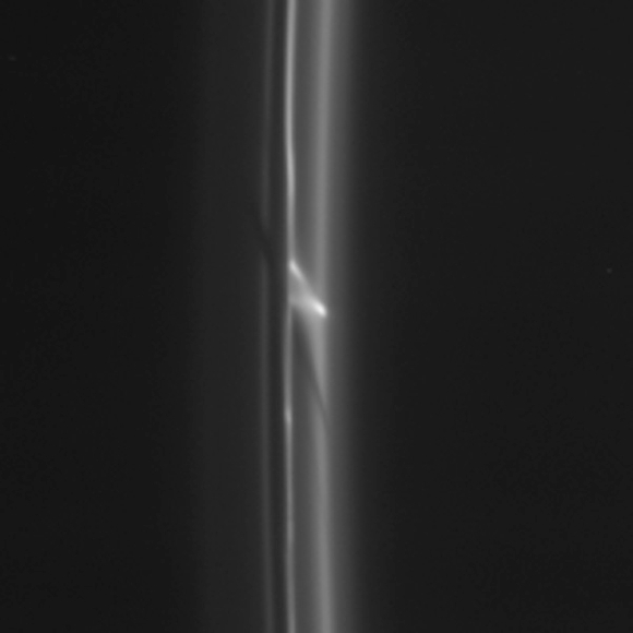 IN PICS: Mystery object punches Saturn's ring
