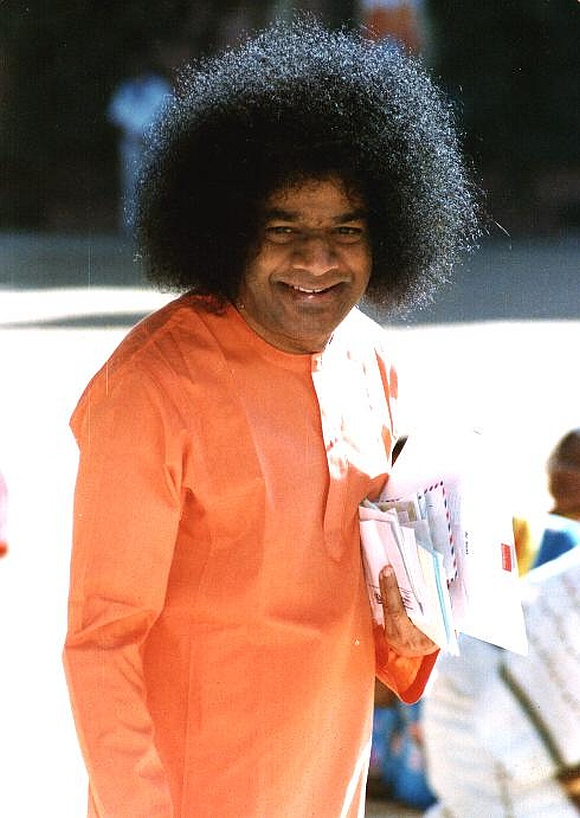 A file photo of Sathya Sai Baba