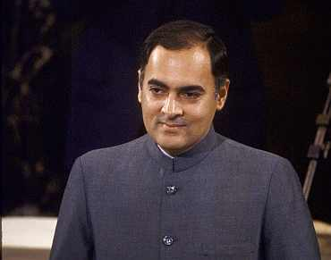 Former PM Rajiv Gandhi whose role in the Bofors scam has been under the scanner