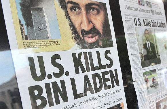 Newspaper front pages highlighting the killing of Osama bin Laden