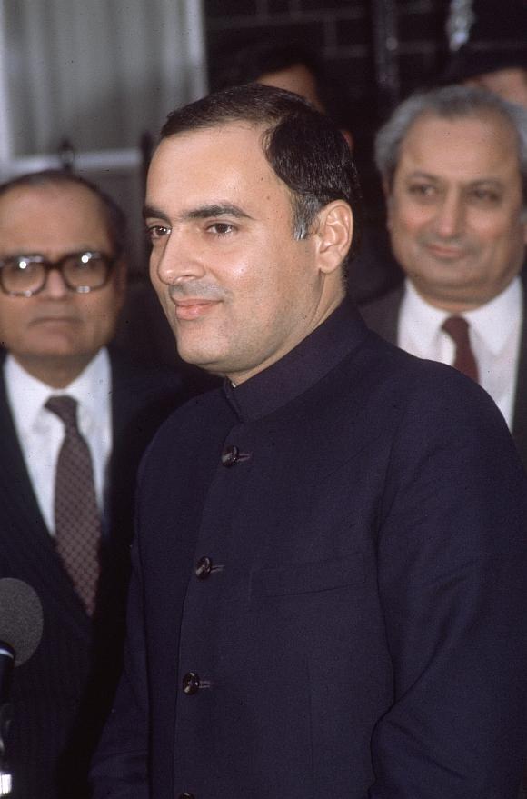 Former Prime Minister Rajiv Gandhi