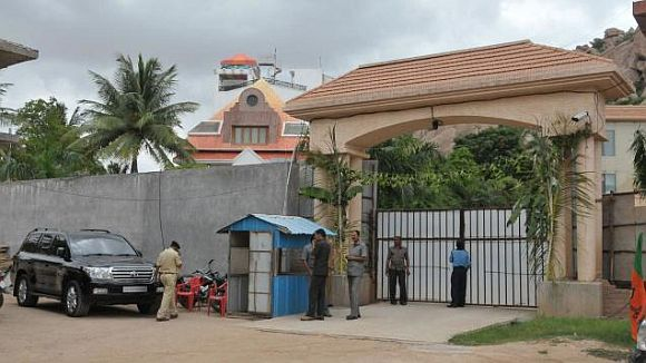 The palatial mansion of Janardhan Reddy in Bellary