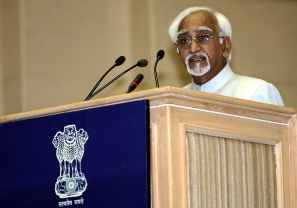 Vice President Hamid Ansari at a function in New Delhi