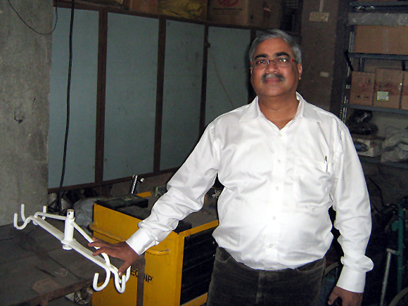Ferdinand Rodricks at his workshop in Mumbai