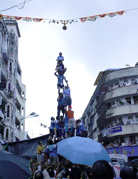 Dahi Handi celebrations at Dadar in Mumbai