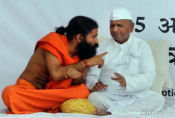 Cong's take on Ramdev, Hazare: The masks have fallen