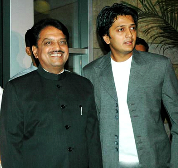 Vilasrao Deshmukh with son Riteish