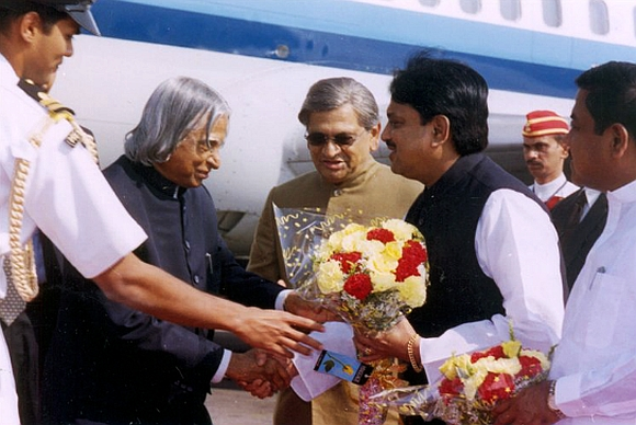 Vilasrao with former President A P J Abdul Kalam and Union minister S M Krishna