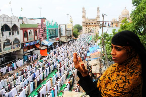 Security arrangements going on well in Hyderabad for Ramzan