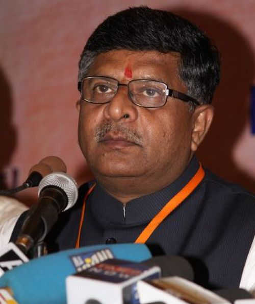 BJP chief spokesperson Ravi Shankar Prasad