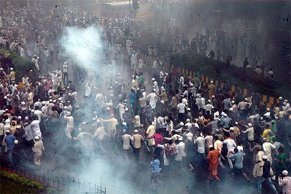Protestors went on a rampage near Azad Maidan in Mumbai on August 1 in which two youth were killed