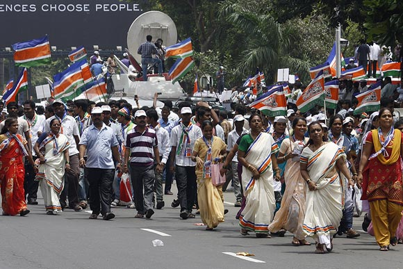 MNS claims that 1 lakh supporters gathered at Azad Maidan
