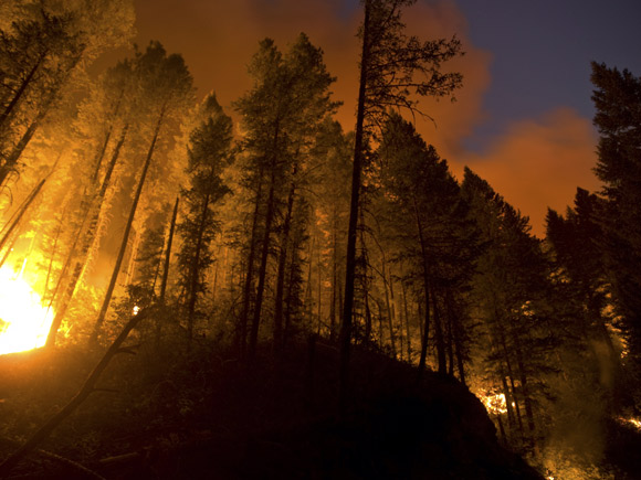 IN PHOTOGRAPHS: Wildfires wreck havoc in US