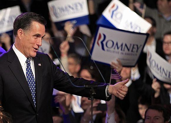 Republican challenger Mitt Romney