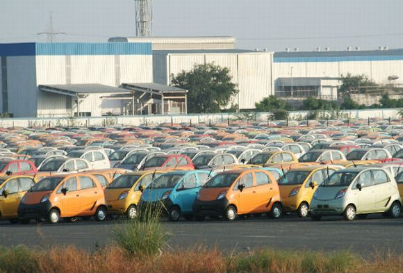 The Tata Motors' Nano plant in Sanand