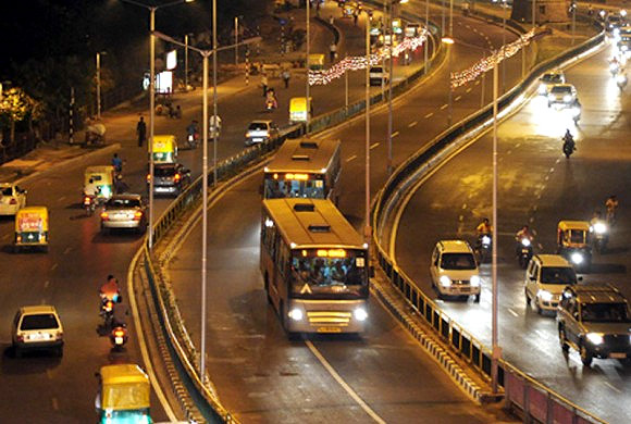 A BRTS bus in Ahmedabad