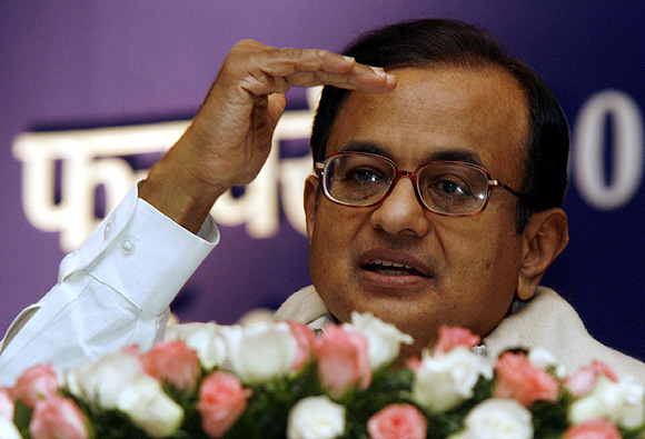 Union Finance Minister P Chidambaram.