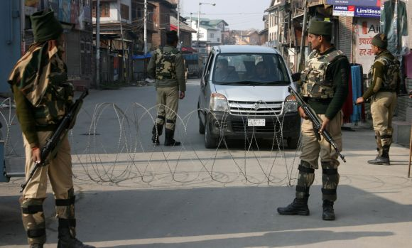 Strict restrictions have been put in place as curfew continues in parts of Srinagar