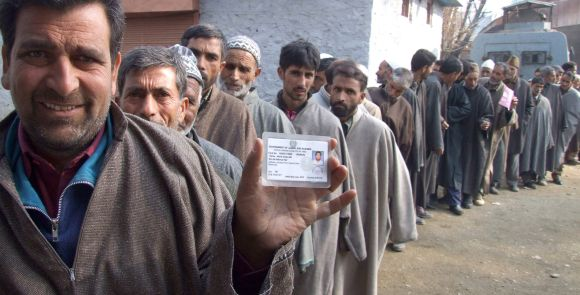 Jammu and Kashmir saw a record turnout of 90 per cent in the polls for four legislative council seats
