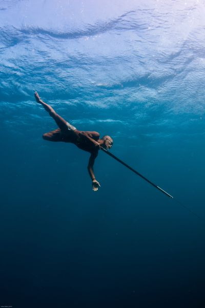 80 year-old sea gypsy spear fisherman