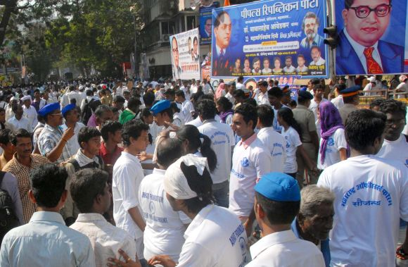 IN PICS: Ambedkar followers throng 'Chaityabhoomi'