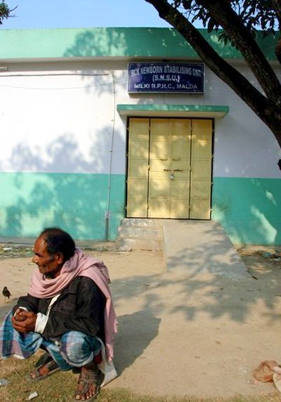 The sick newborn stabilising unit seen closed at the Milki Health Centre in Bengal's Malda district.