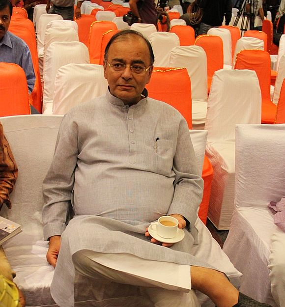 Senior BJP leader Arun Jaitley at a function in Ahmedabad