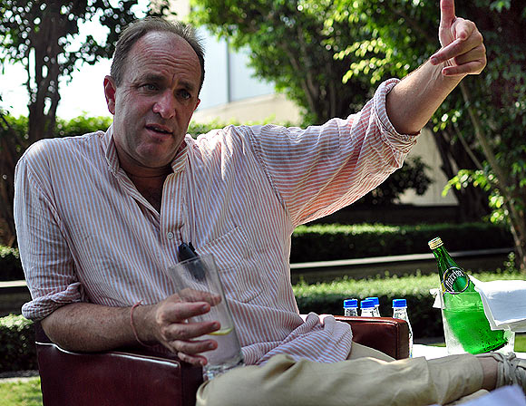 Writer Willam Dalrymple in Mumbai. Dalrymple has written nine books.