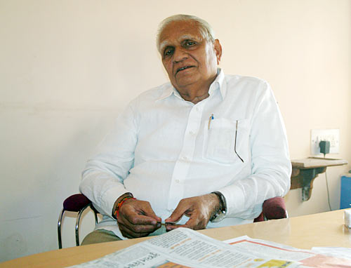 Narendra Modi's elder brother Somabhai in Ahmedabad