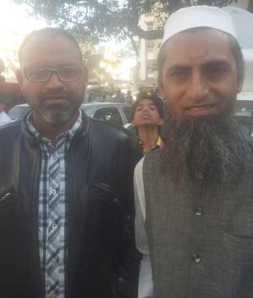 Muslim supporters of Modi, Mohammed Sajjad and Mohammed Shaikh, in Khanpur