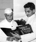 Hari Sharan Chhabra with Nehru