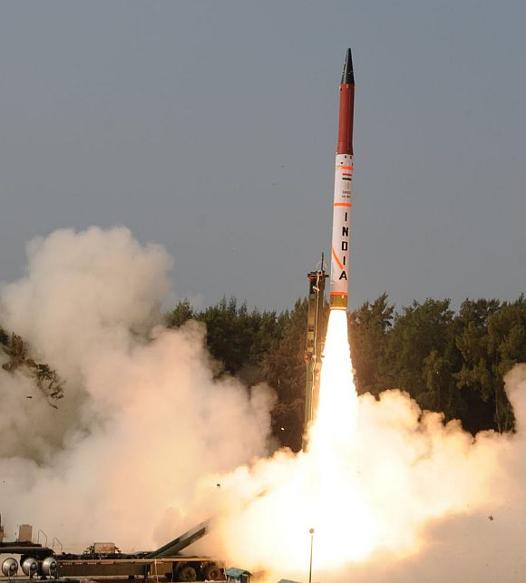 Agni-IV test launch