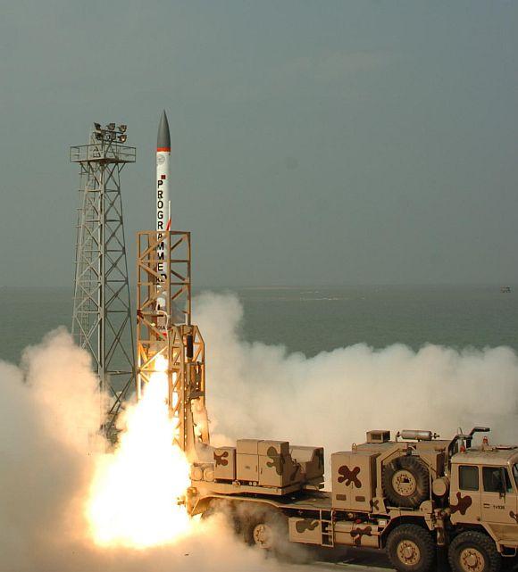 Interceptor Missile AAD test launch