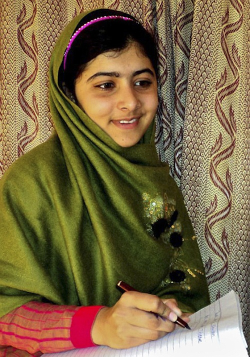 Malala is seen in Swat Valley, northwest Pakistan, in this undated file photo