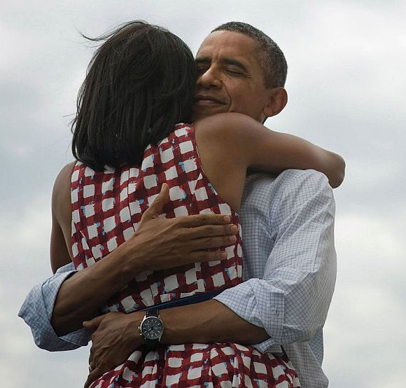 Barack Obama with wife Michelle