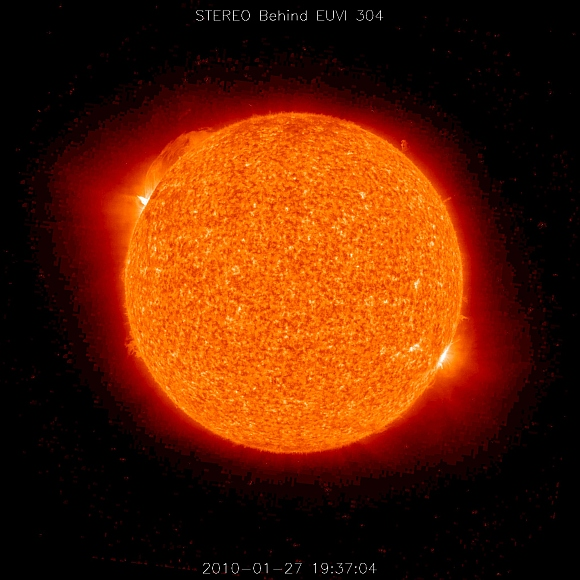 IN PICS: Sun 'punches' earth with powerful radiation