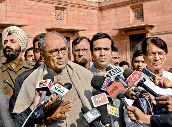 File photo of Digvijay Singh with Ajit Singh