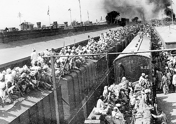 A scene from the 1947 partition of India